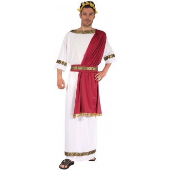 Mens White Ancient Greek/Roman God Fancy Dress Costume