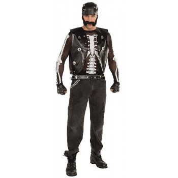 Skeleton Shirt Mesh (Unisex) Fancy Dress Costume
