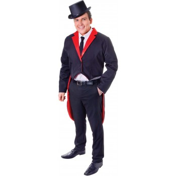 Mens Black (Tailcoat Adult) Fancy Dress Costume