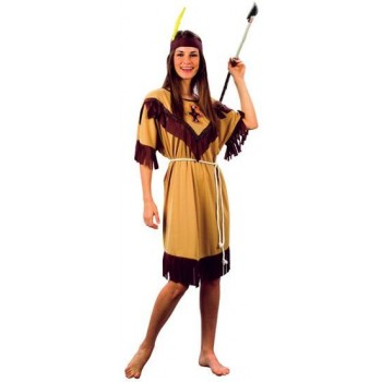 Native American Lady Budget Fancy Dress Costume