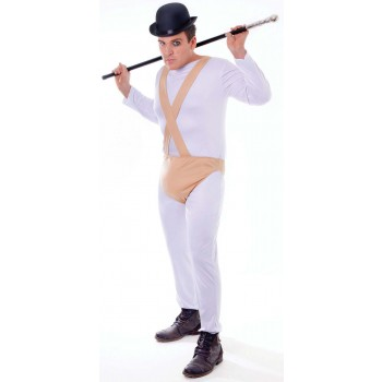 Mens White (Clockwork Orange) Fancy Dress Costume