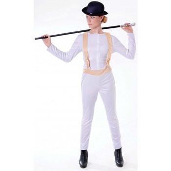 Ladies White (Clockwork Orange) Fancy Dress Costume
