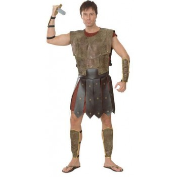 Warrior Man Fancy Dress Costume