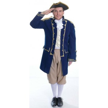 Mens Naval Admiral Of The Fleet Fancy Dress Costume