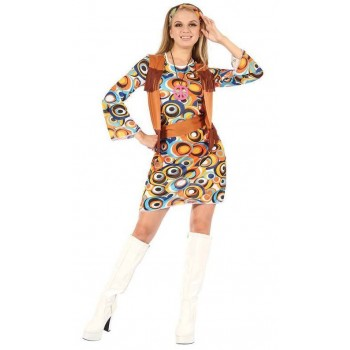 Ladies 60'S Hippy/Mod Dress Fancy Dress Costume
