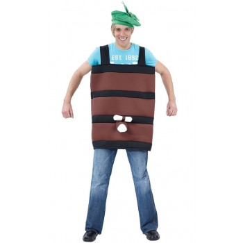 Adults Stag/Oktoberfest/Party Barrel Fancy Dress Costume