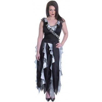 Ladies Zombie Prom Queen Halloween Fancy Dress Costume