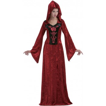 Ladies Red (Gothic Maiden) Fancy Dress Costume