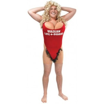 Lifeguard / Hairy Mary Fancy Dress Costume