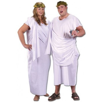 Toga. Unisex Plus Size Fancy Dress Costume