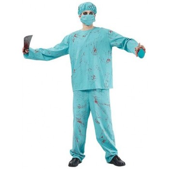 Blood Splatter Surgeon Fancy Dress Costume
