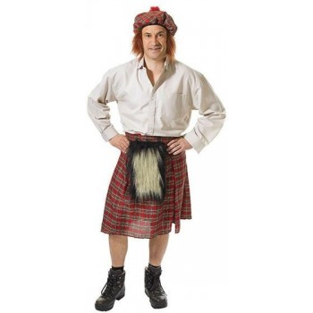 Scots Kilt + Hat (Cultures , Hen & Stag Fancy Dress)