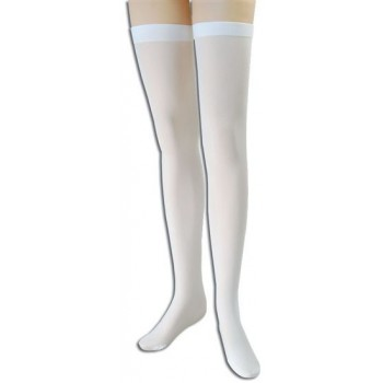 Stockings. White Over Knee (School , Sexy Fancy Dress Tights)