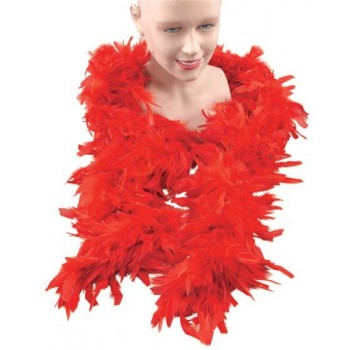 Feather Boa. Red (1920S , Burlesque Fancy Dress Feather Boas)