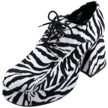 Mens Zebra Pimp/Gangster/Glam Platform Shoes