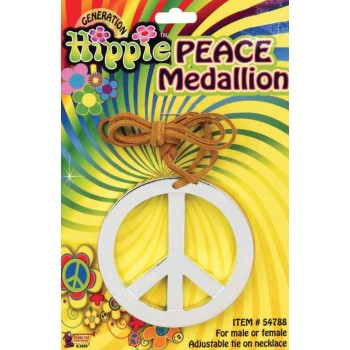 Adults 60'S Hippie Peace Medallion Fancy Dress Accessory