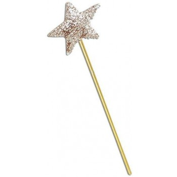 Wand. Gold Sequin (Fairy Tales Fancy Dress)