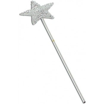 Wand, Silver Sequin (Fairy Tales Fancy Dress)