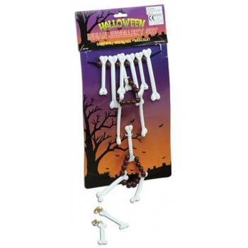 Bone Necklace/Jewellery Set (Cavemen , Halloween Jewellery)