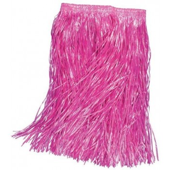 Grass Skirt. Childs Pink (Hawaiian Fancy Dress)
