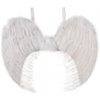 Angel Wings. White Feather 60X50Cm (Christmas Disguises)