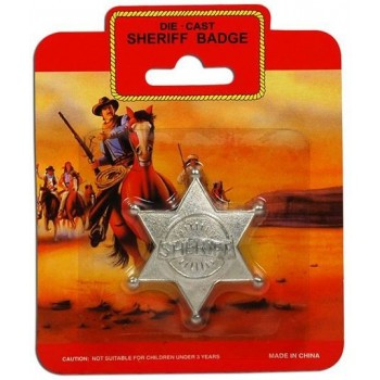 Sheriff Badge - Metal (Cowboys/Native Americans Fancy Dress Disguises)
