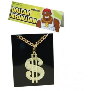 Dollar Medallion On Chain (1970S , Pimp Fancy Dress Jewellery)