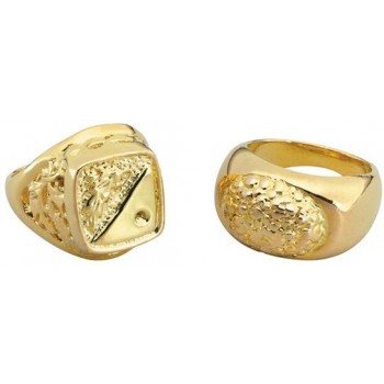 Rings. Gold Sovereign Style (Pimp , 1970S Fancy Dress Jewellery)