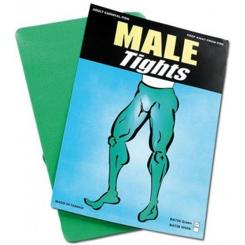 Male Tights. Green (Drag , Fairy Tales Fancy Dress Tights)