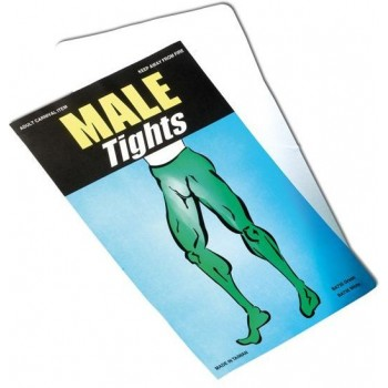 MALE TIGHTS. WHITE (DRAG , CHRISTMAS TIGHTS)