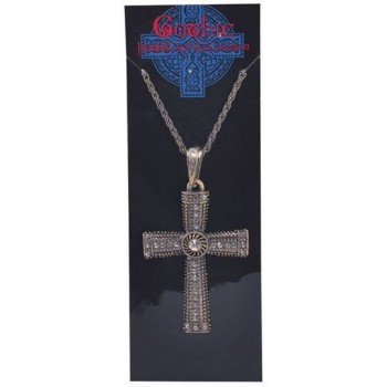 Jewelled Cross Necklace (1980S , 1980S Fancy Dress Jewellery)