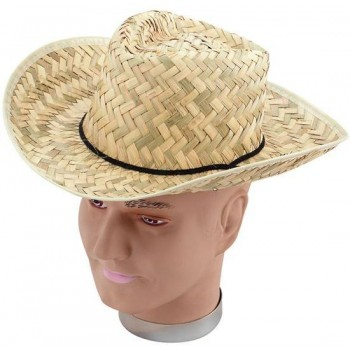 Straw Stetson (Cowboys/Native Americans Fancy Dress Hats)