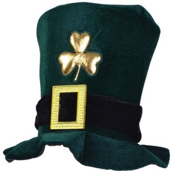 Irish Hat. Velvet, Green (Cultures Fancy Dress Hats)