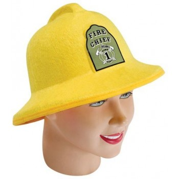 Fireman Helmet. Felt With Badge (Fire Service Fancy Dress Hats)