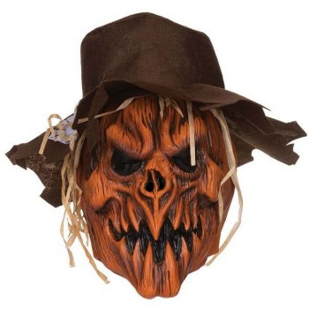 Adult Deluxe Scarecrow Skull And Hat Halloween Fancy Dress Accessory
