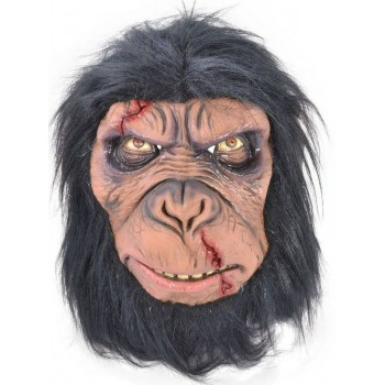 Adult Deluxe Zombie Chimp Halloween Mask