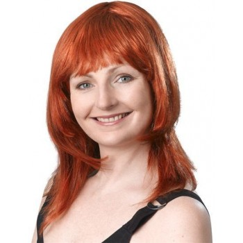 Layered Female Wig. Ginger (Fancy Dress Wigs)