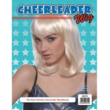 Cheerleader Wig. Blonde Best (Fancy Dress Wigs)