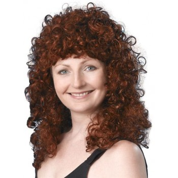 Curly Wig Long. Ginger Budget (1980S Fancy Dress Wigs)