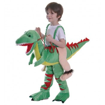 Childs Sep In Riding Dinosaur Fancy Dress Costume