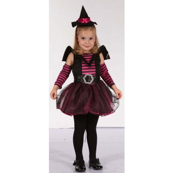 Toddler Black And Pink (Witch) Fancy Dress Costume