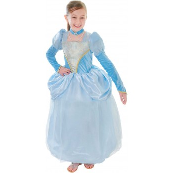 Girls Blue Princess Dress Fancy Dress Costume