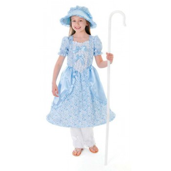 Girls Little Bo Peep Fancy Dress Costume