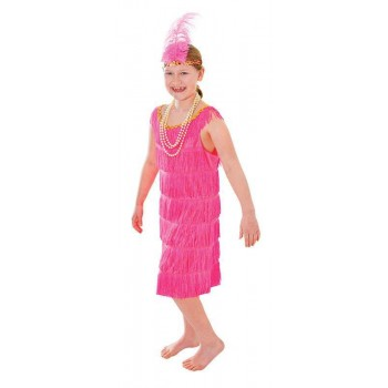 Flapper Dress.Pink Fancy Dress Costume