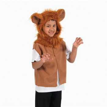 Lion Fur Tabbard Fancy Dress Costume