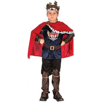 Boys Royal Fantasy King Fancy Dress Costume