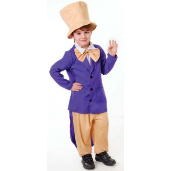 Childs Chocolate Factory Owner/Boss Fancy Dress Costume
