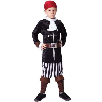 Boys High Seas Pirate Captain Fancy Dress Costume