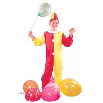 Boys Circus Clown Fancy Dress Costume