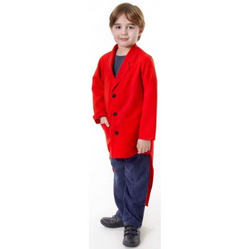 Boys Red (Tailcoat) Fancy Dress Costume